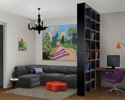 Как обустроить кабинет в гостиной?