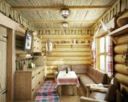 Интерьер дома в деревенском стиле